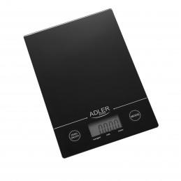 Adler AD 3138 b Balance de cuisine - Grand écran LCD - Zéro automatique (fonction TARE)