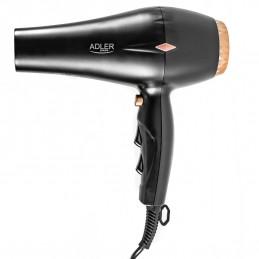 Sèche-cheveux ionique professionnel avec Concentrateur et Diffuseur inclus - Fonction Cool Shot - Fonction ION - Adler AD2244