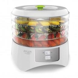 Déshydrateur Alimentaire automatique 400W pour sécher des fruits, des légumes et herbes - Rapide et facile - Adler AD 6654