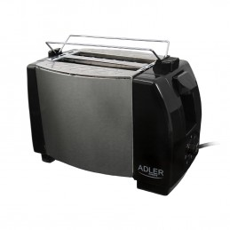 Grille pain toaster 2 fentes AD 35 - 750W - Inox
