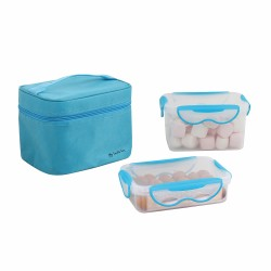 Lunch box 2 boxes blue...