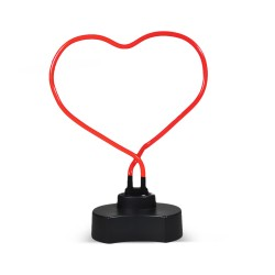 red heart shaped neon lamp