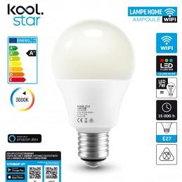 Wifi LED bulb 7W RGB +...