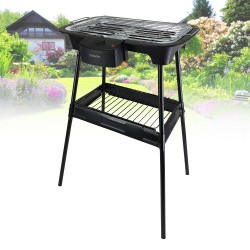 electric barbecue on foot -...