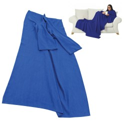 Blue fleece blanket with...