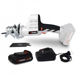 Scie a Ebrancher Portative 20V - Coupe BOIS et METAL -2700 T/min - Xperformer XPCBR20LI - Batterie 2Ah et chargeur inclus
