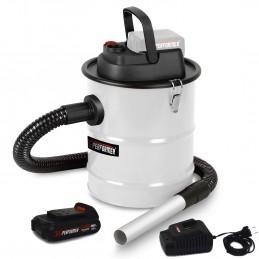 Vide Cendre motorisé 20V - Vide poussière, Bois, Barbecue - Xperformer XPABIDON20-12L - Batterie 2Ah et chargeur inclus